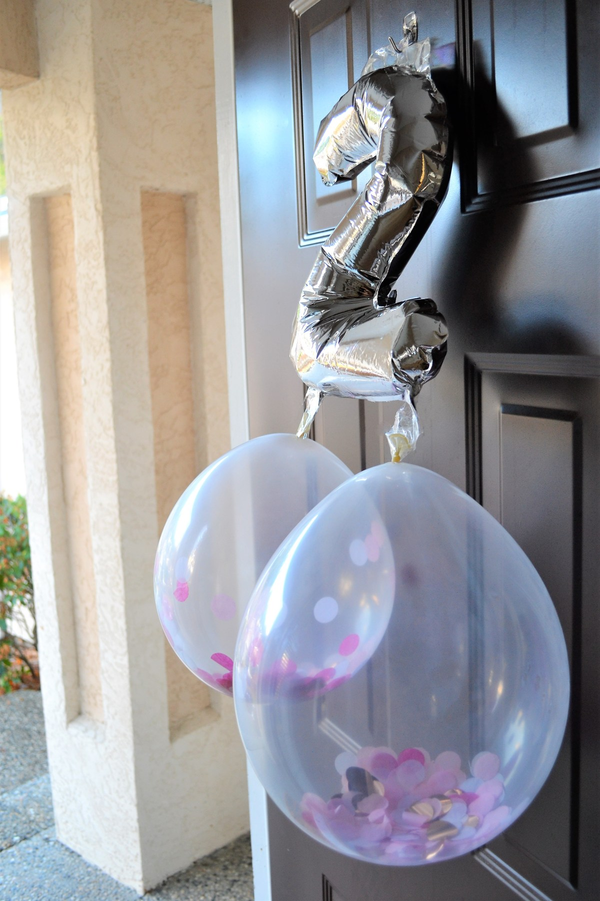 Baby Doll Party Theme - front door decor