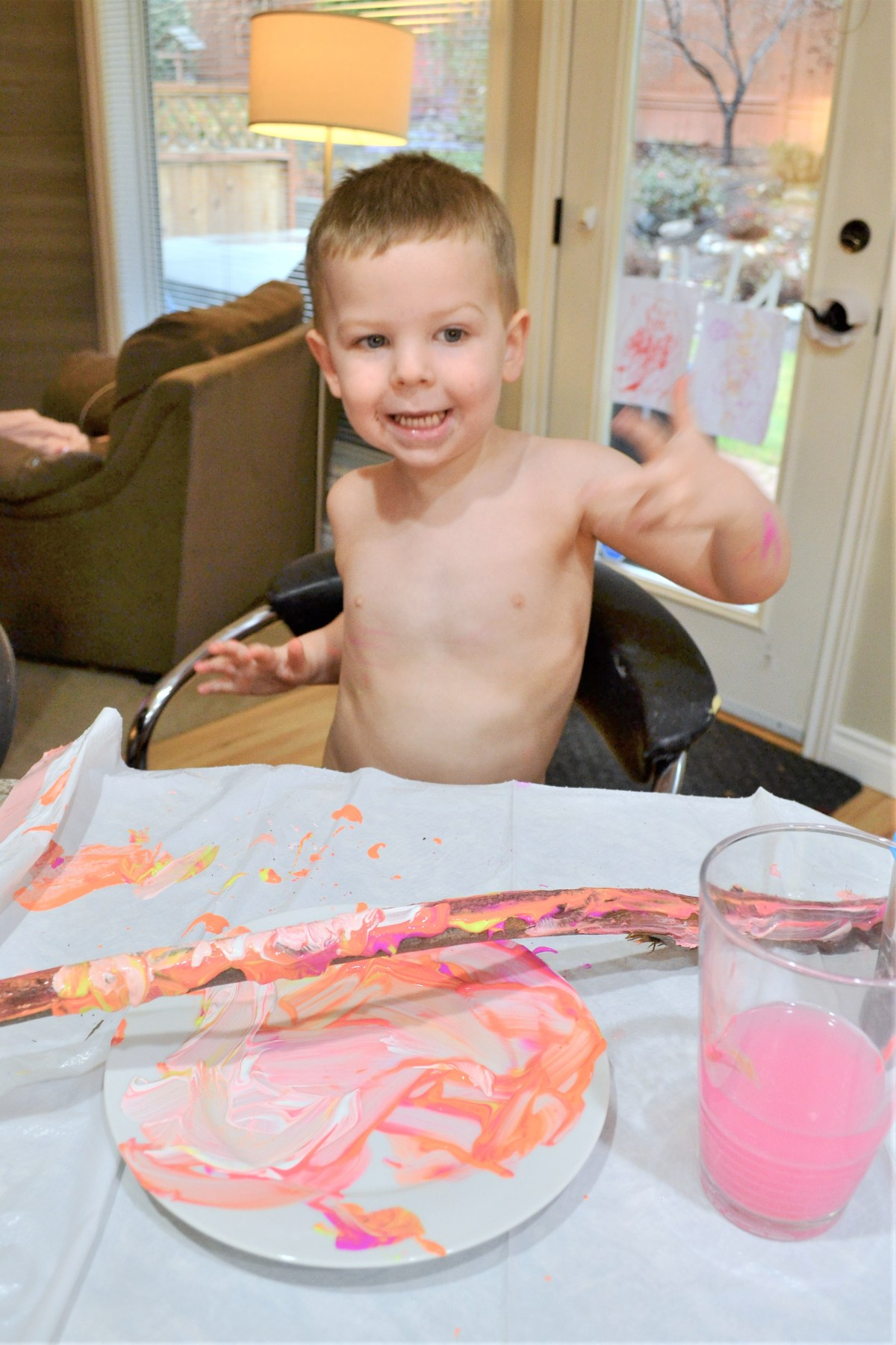 Crafts for kids - Painted Sticks! - having fun