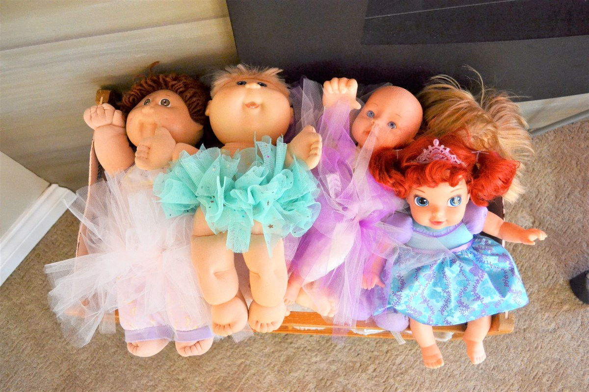 Baby Doll Party Theme - baby dolls in tutus