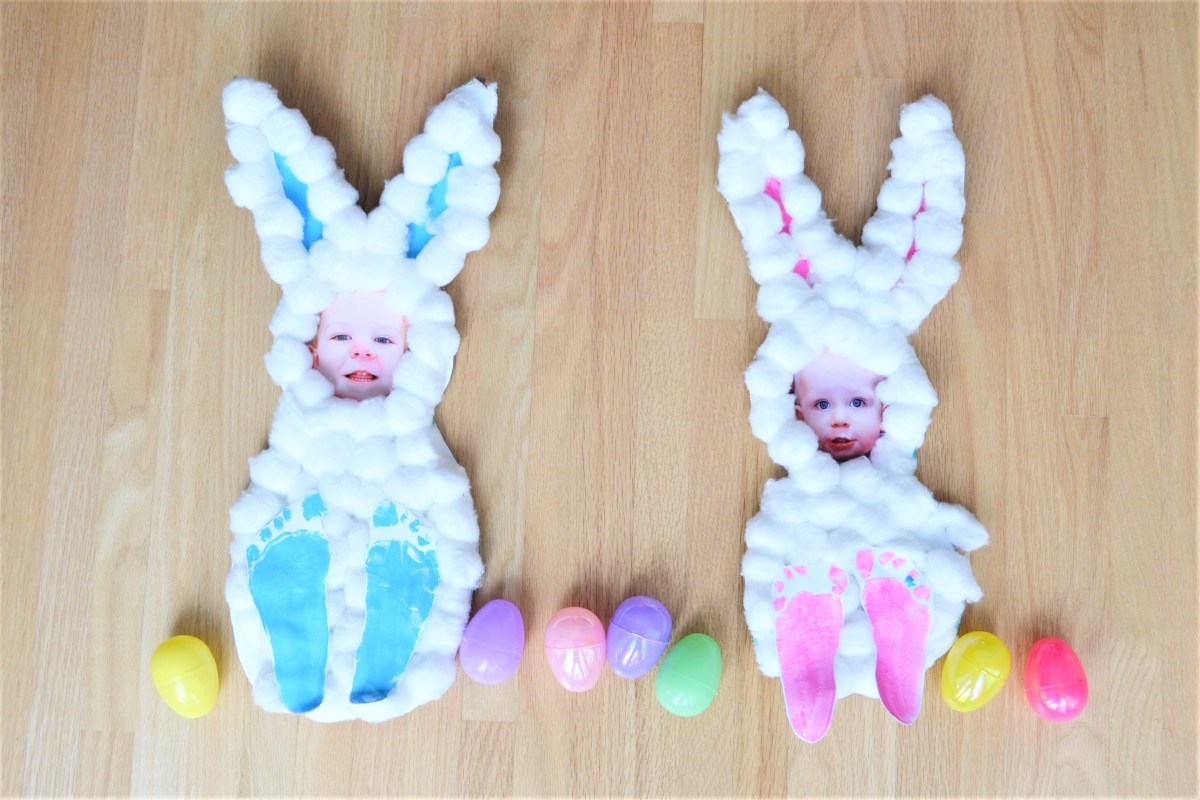 Easter Crafts For Kids Cotton Ball Bunnies Making Things Is Awesome