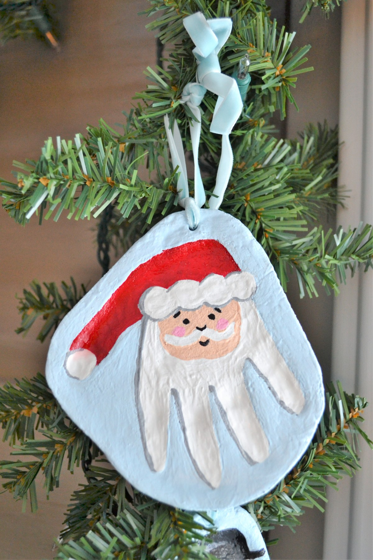 Salt Dough Recipe - Santa hand print