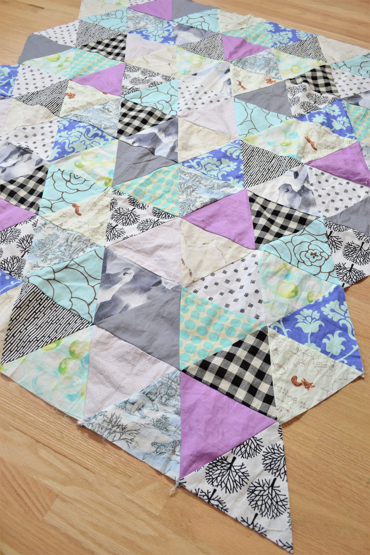 Baby Quilt Patterns: Triangle Modern Quilt Pattern!   Making