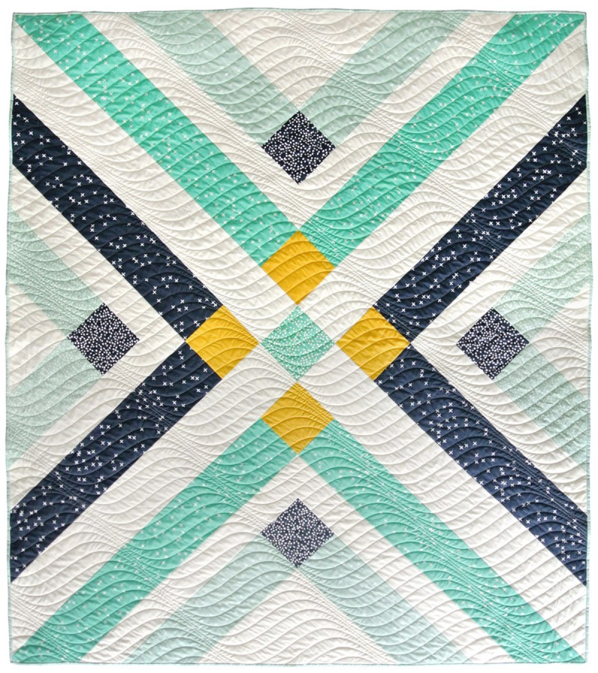 10 Free Modern Quilt Patterns For Beginners! - Retro Plaid Free Quilt Pattern - from Suzy Quilts