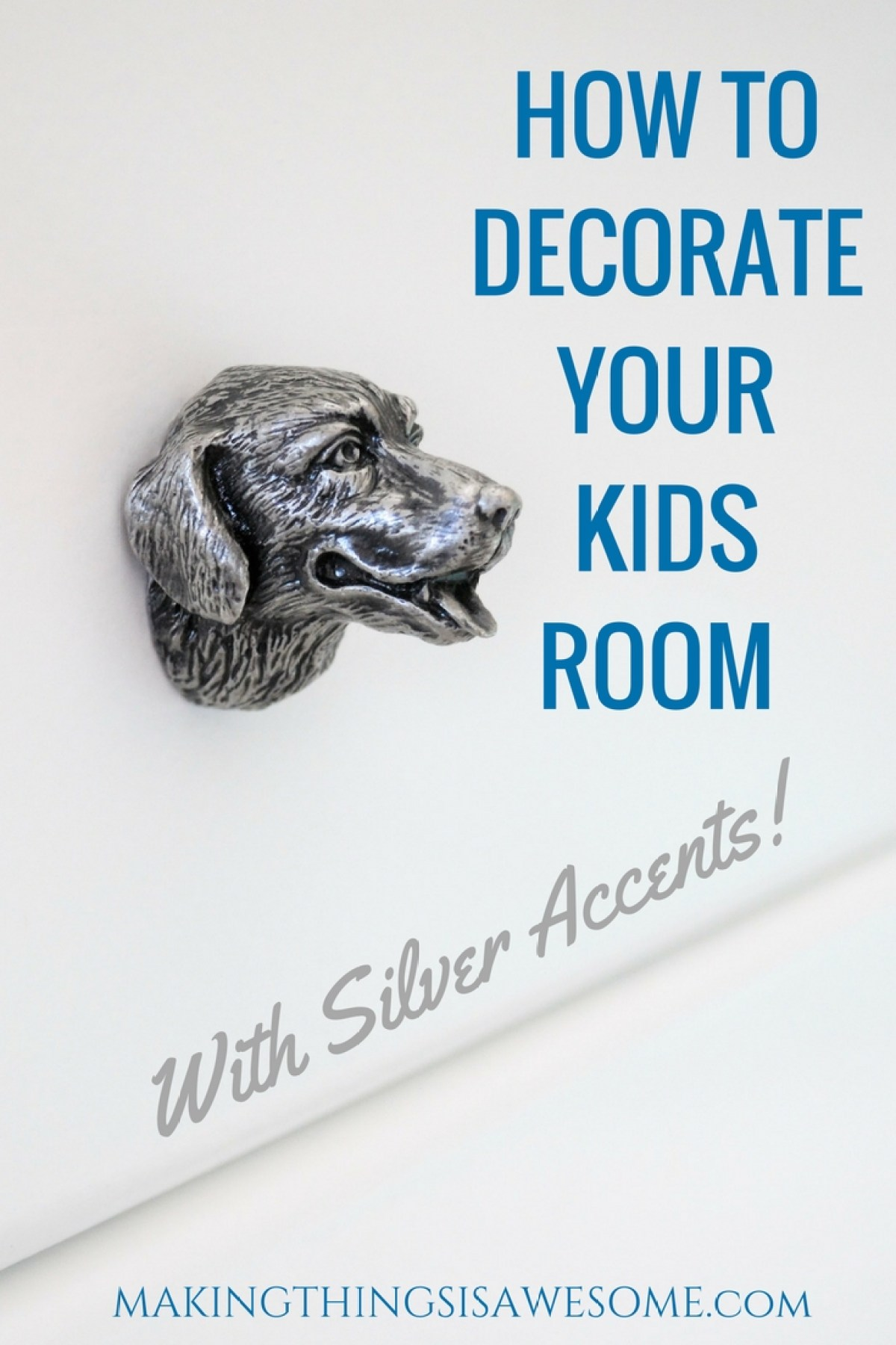 How to decorate your kids room with silver accents