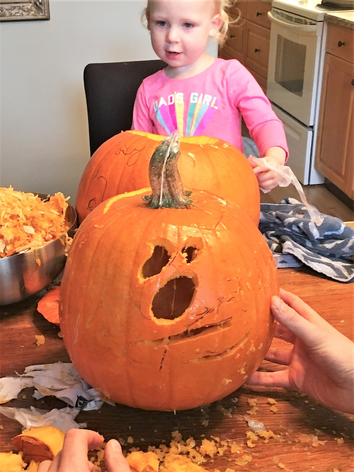 Halloween Traditions with the Kiddos - scribble face