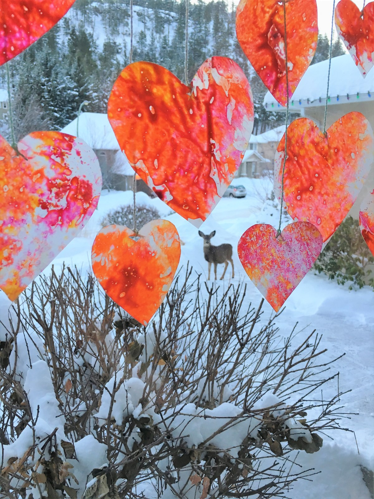 Crayon Heart Sun Catchers - easy to make