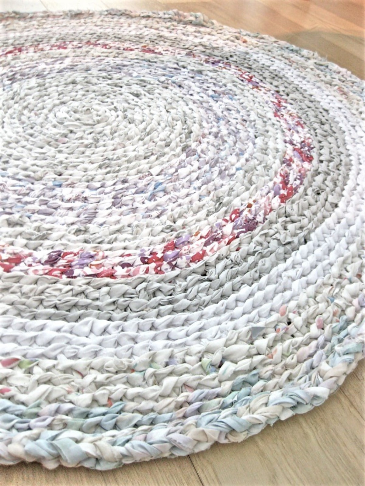 My First Rag Rug Made From Old Flat Sheets Making