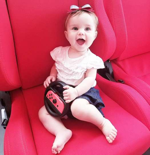 baby in video game chair