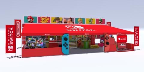 Nintendo switch tour pop up