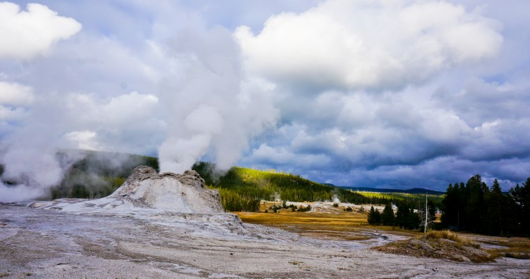 Old Faithful and Friends, Yellowstone National Park