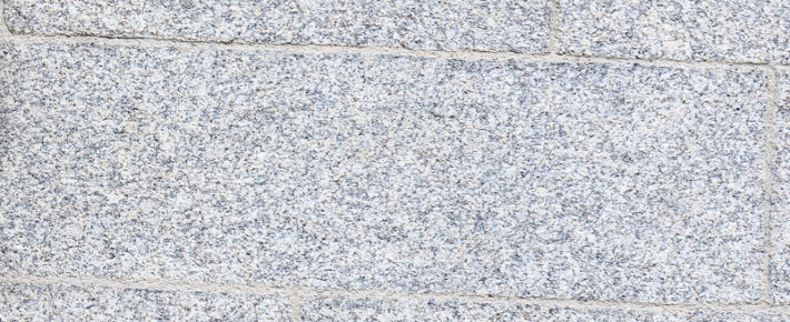 Surface image of Ballyknockan Granite on exterior of Museum Building