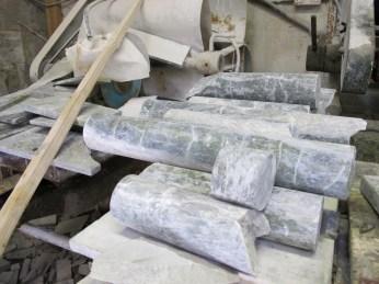 Unpolished cores of Connemara Marble