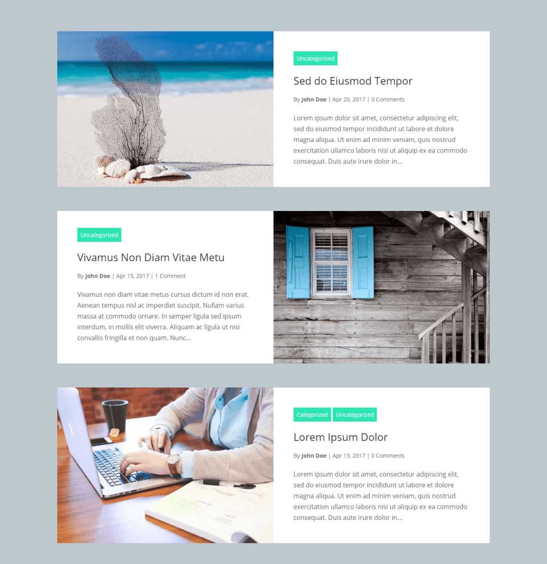 Divi Blog Layouts Grid Extended