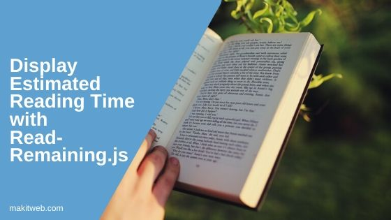 Display estimated reading time with ReadRemaining.js