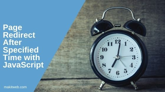 Page Redirect after specified time with JavaScript