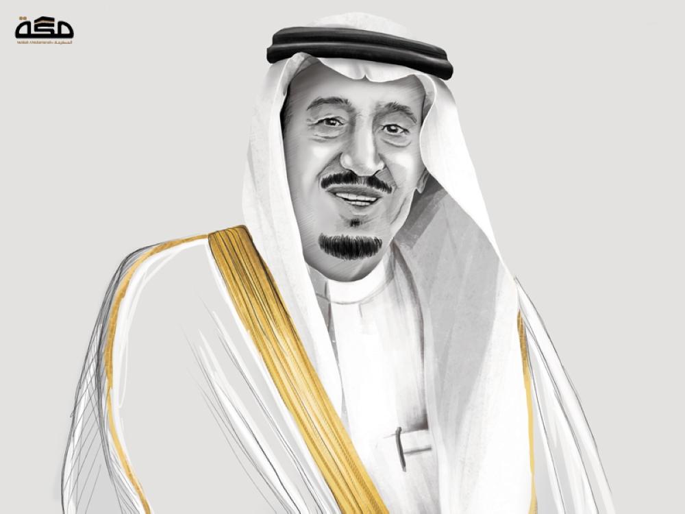 الملك سلمان ومحمد بن سلمان رسم