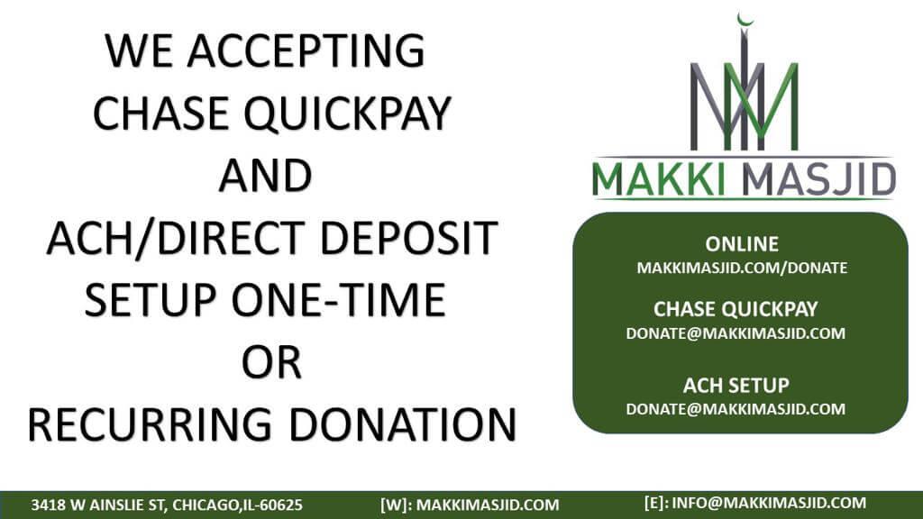 More Donation Options - Makki Masjid
