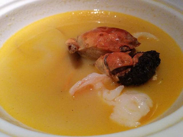夜上海の蟹のスープ