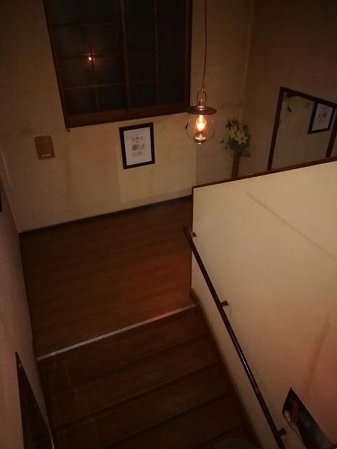 青荷温泉ランプの宿階段