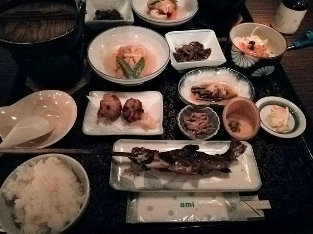 青荷温泉ランプの宿の食事