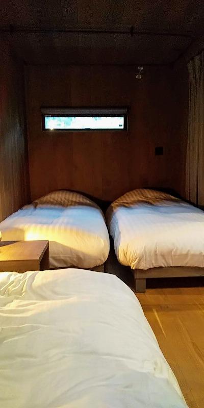 タイニーベースの寝室