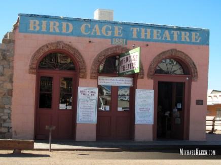 Bird Cage Theatre in Tombstone, Arizona. Photo by Michael Kleen