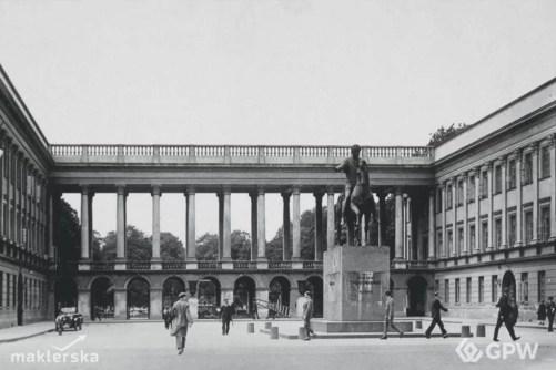 Historia GPW. Pałac Saski