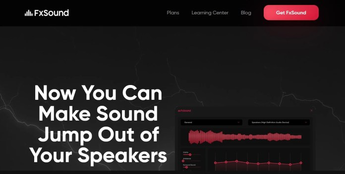 FXSound Sound Equalizers for Windows 11