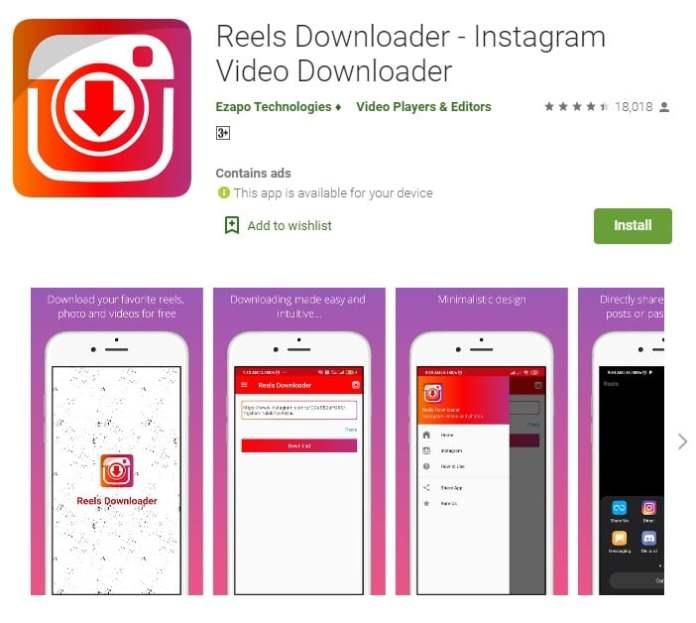 Download Instagram Reels Videos using Reels Downloader