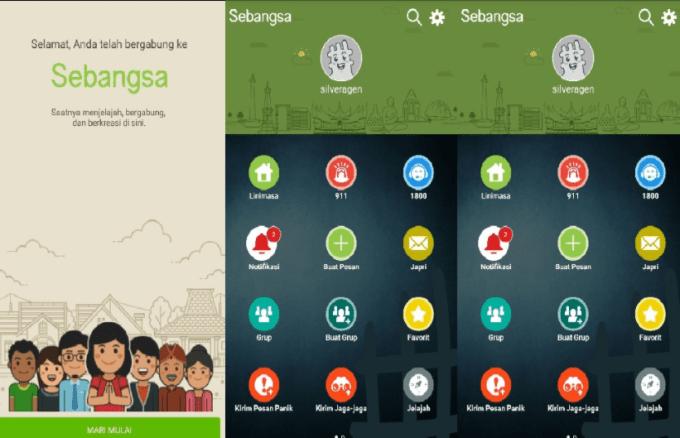 chating pake aplikasi sebangsa