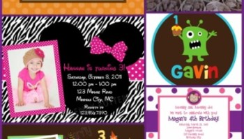 trendy butterfly customized invitations