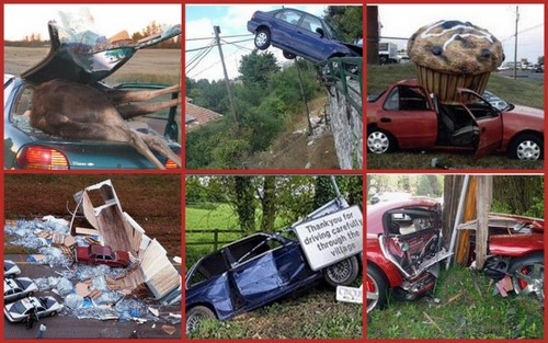 crazy car wrecks
