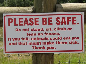 funny animal sign