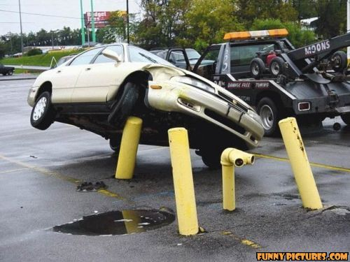 Funny car accident