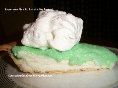 Leprechaun Pie St. Patrick's Day Recipe