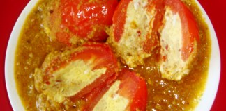 Egg Stuffed Tomatoes Recipe