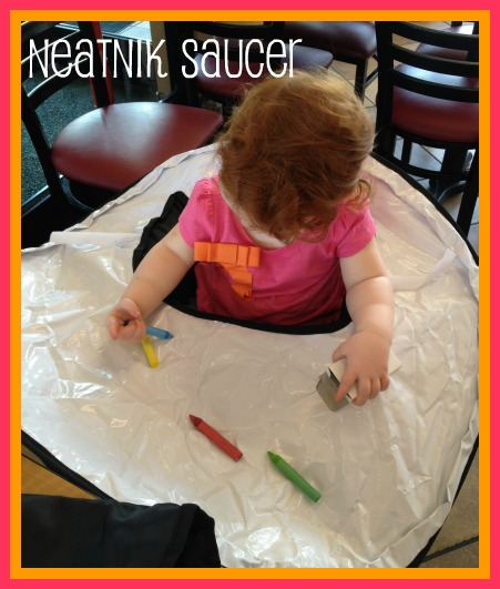 neatnik saucer table topper and high chair cover sweepstakes - Ciao Portable High Chair