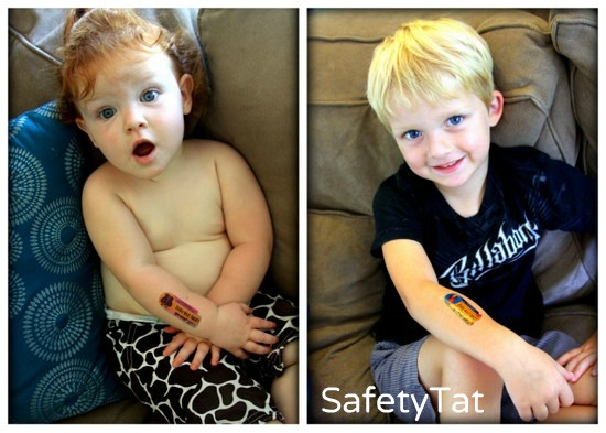 Temporary Safety Tattoos for Children