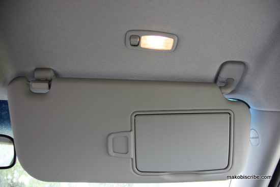 Passenger side mirror with light
