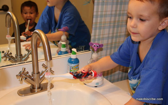 Oral Care Spin into Action Spinbrush