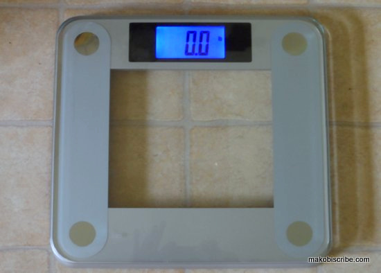 Modern Digital Glass Topped Bathroom Scale