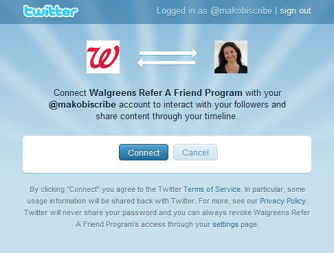 Connect your social media to Walgreens