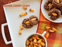 Chocolate Caramel Candy Corn Cookies