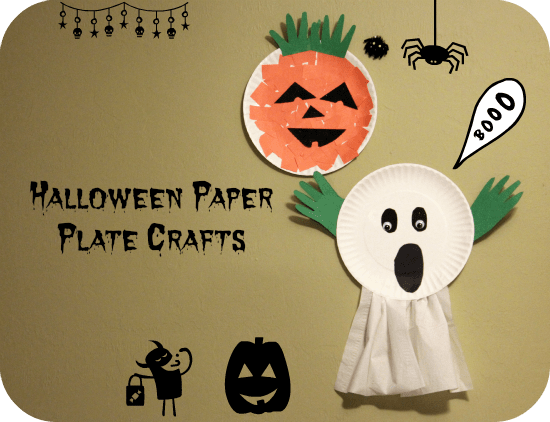 Halloween Ghost Paper plate craft