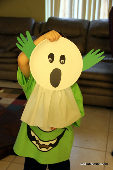 Paper Plate Ghost Halloween Craft For Preschoolers & Paper Plate Ghost Halloween Craft For Preschoolers ? Makobi Scribe