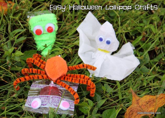 Easy Halloween Lollipop Crafts For Preschool Kids