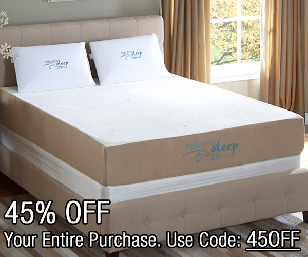 Save 45% OFF On ALL Memory Foam Products At Nature's Sleep