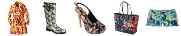 Floral Print Clothing And Accessories