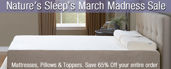 Get 65% Off EVERYTHING In The Nature's Sleep Store