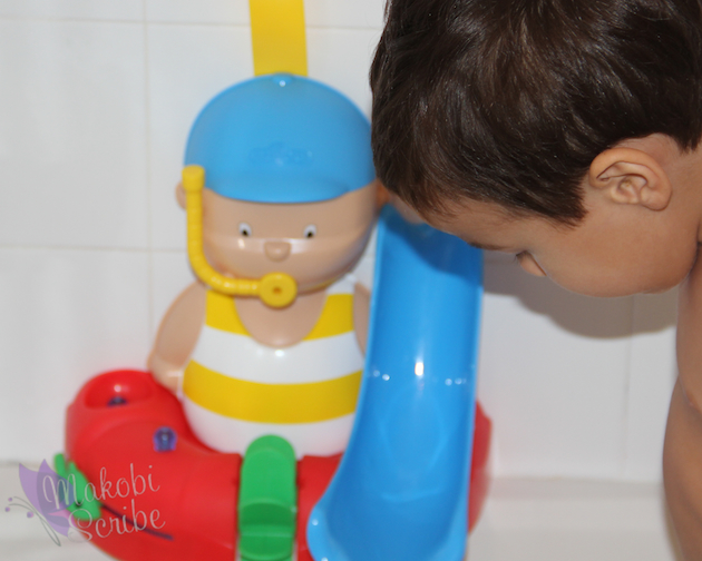 Pretending At Bath Time With The Newest Caillou Tub Toy